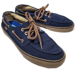 Vans Chauffeur SF Blue Lace Up Boat Shoe Loafers